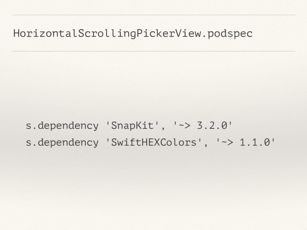 HorizontalScrollingPickerView.podspec s.depende...