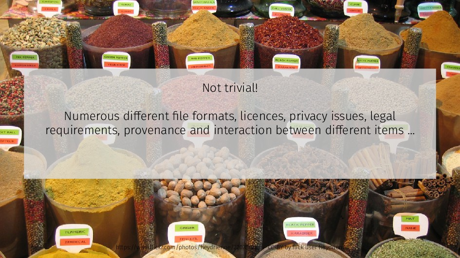 Not trivial! Numerous different file formats, l...