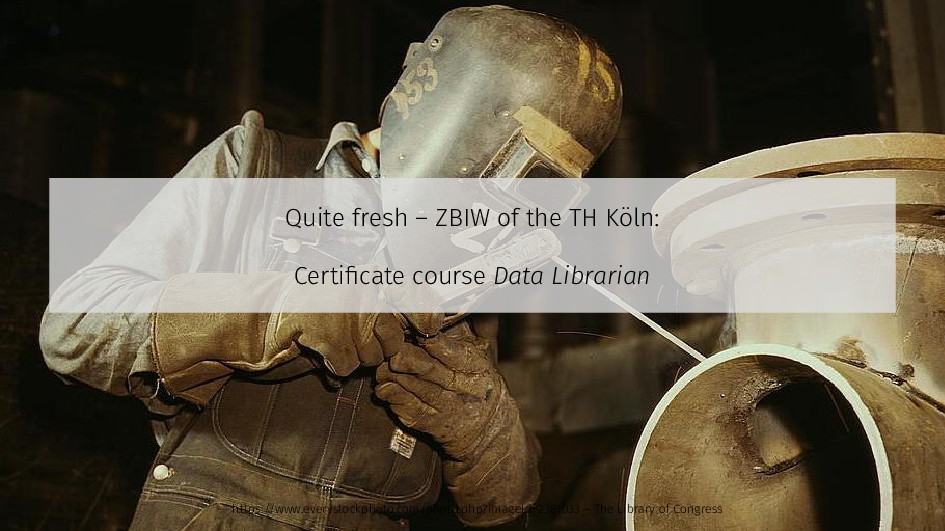 Quite fresh – ZBIW of the TH Köln: Certificate ...
