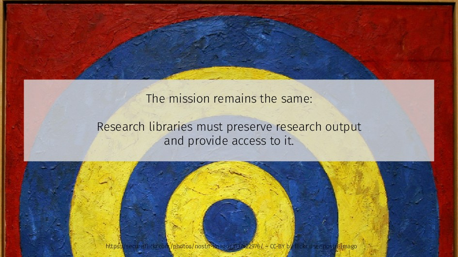 The mission remains the same: Research librarie...