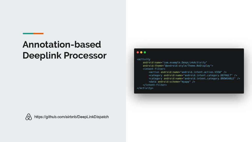 Annotation-based Deeplink Processor https://git...
