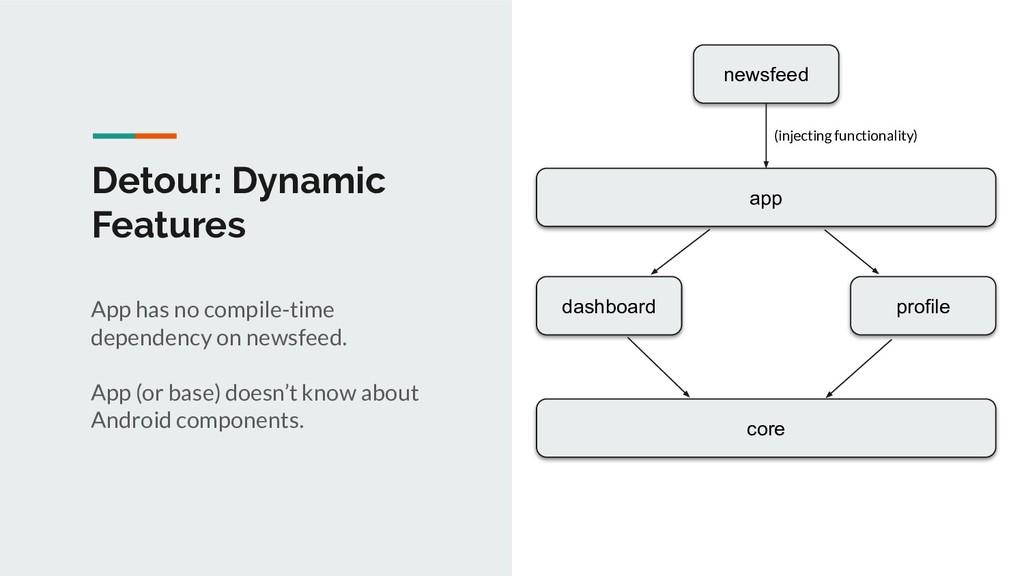 Detour: Dynamic Features app dashboard profile ...