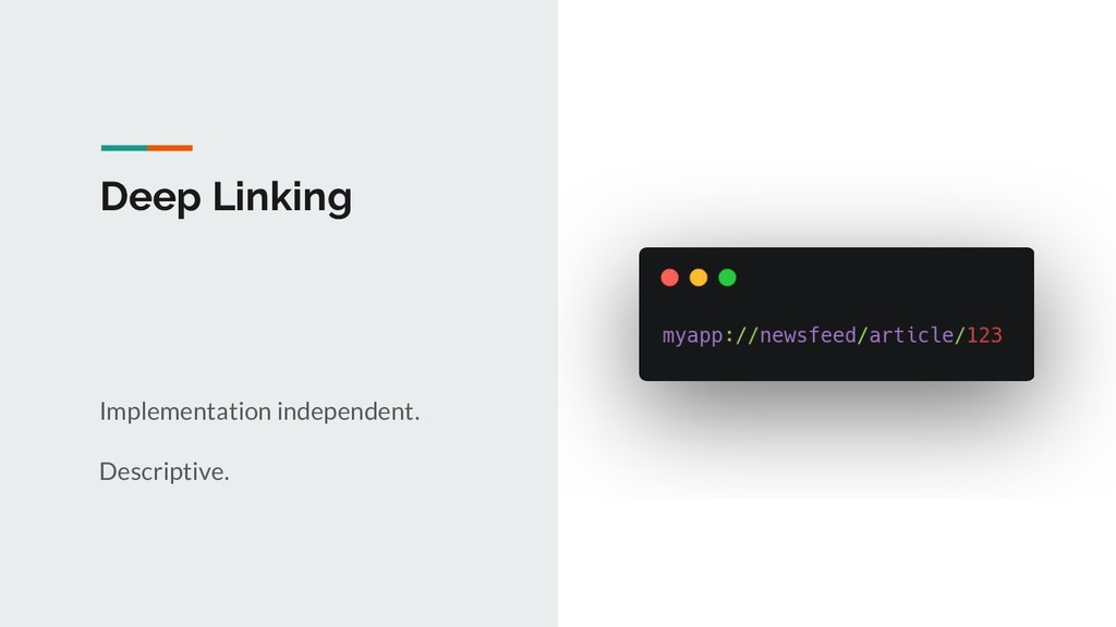 Deep Linking Implementation independent. Descri...