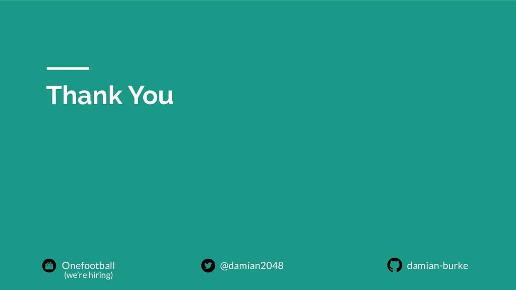 Thank You Onefootball @damian2048 damian-burke ...