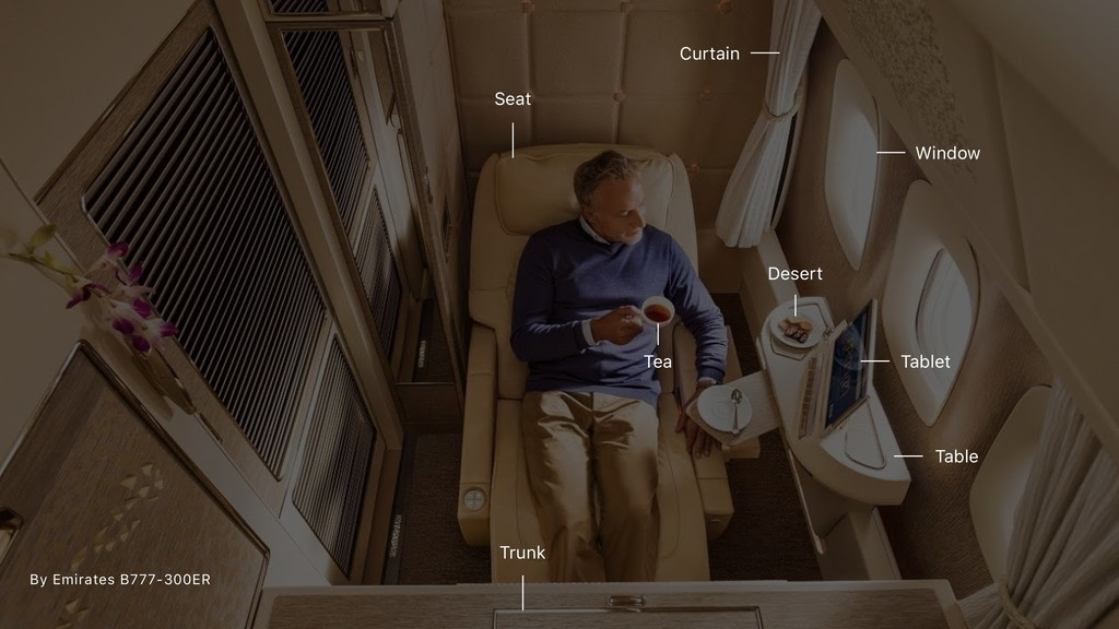 By Emirates B777-300ER Seat Table Tablet Window...