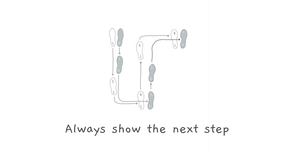 Always show the next step