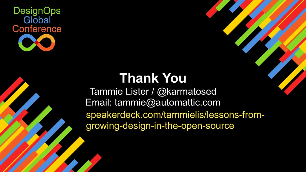 Global DesignOps Conference Thank You Tammie Li...