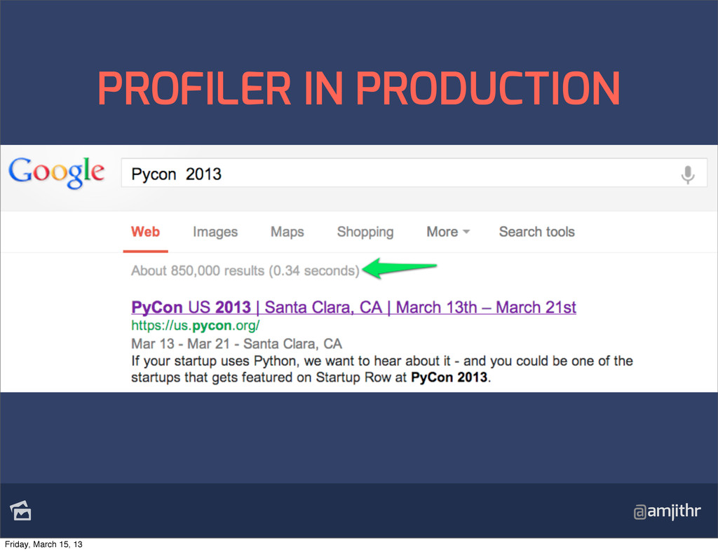 @amjithr PROFILER IN PRODUCTION Friday, March ...