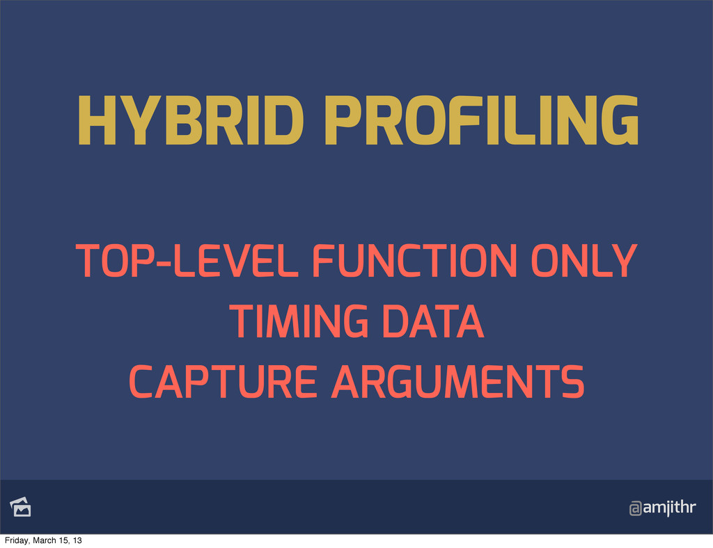 @amjithr TOP-LEVEL FUNCTION ONLY TIMING DATA C...