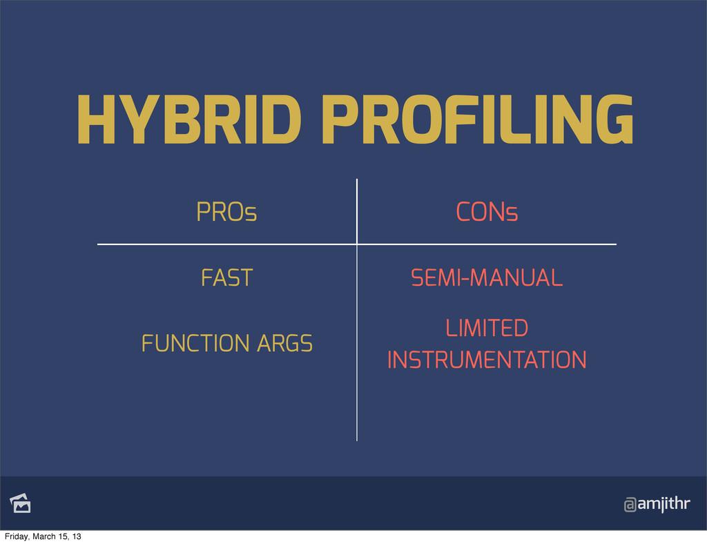 @amjithr HYBRID PROFILING PROs CONs FAST SEMI-...
