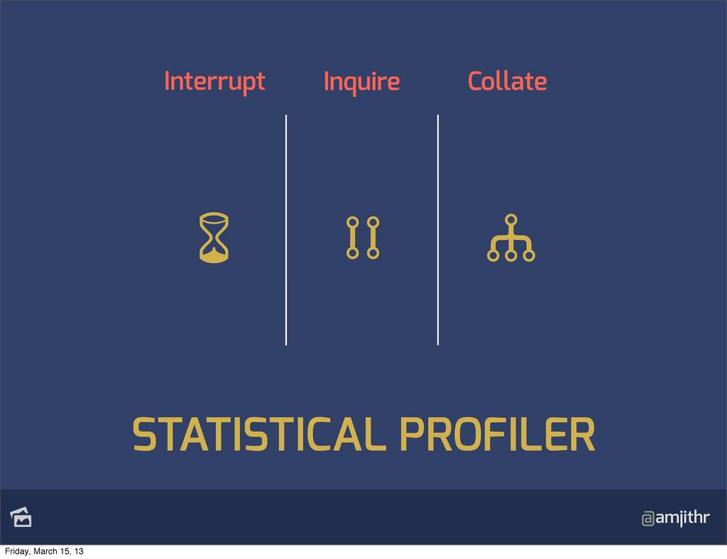 @amjithr Interrupt Inquire Collate STATISTICAL...