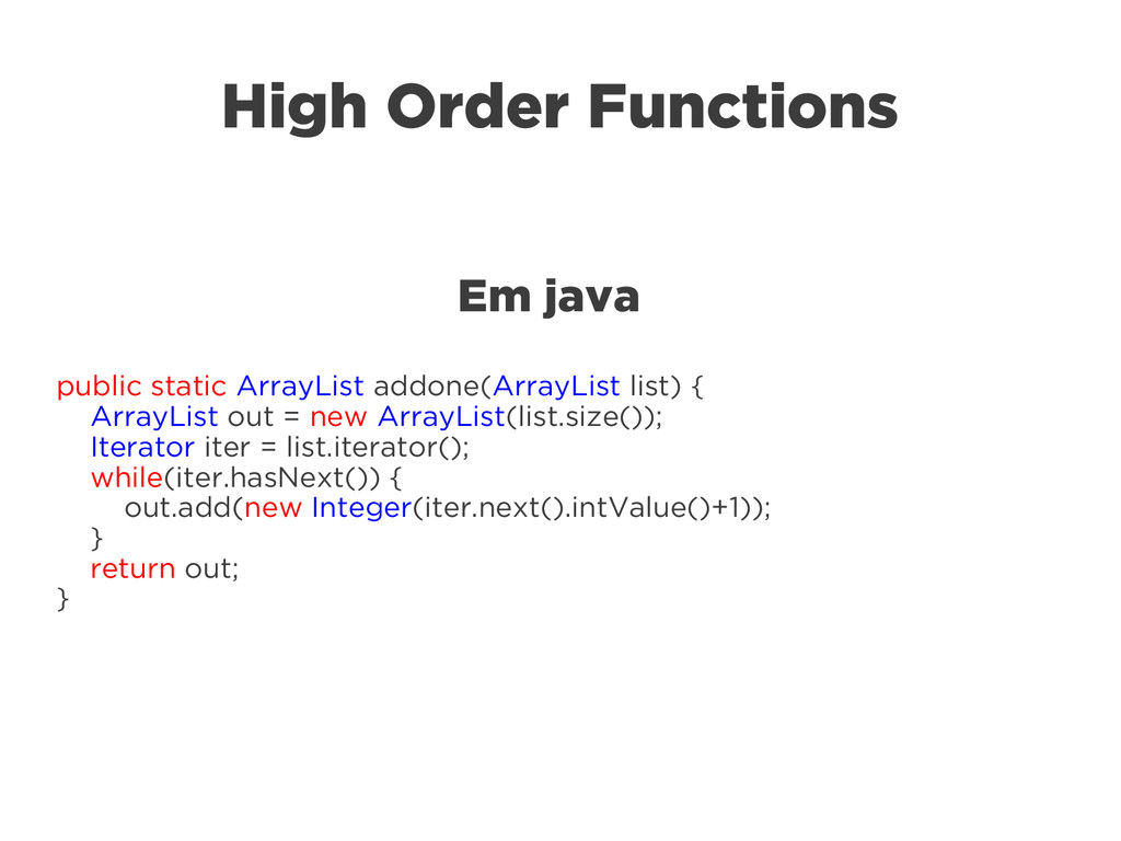 High Order Functions Em java public static Arra...