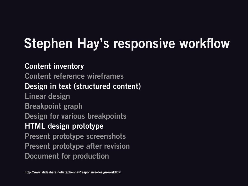 Stephen Hay's responsive workflow Content invent...