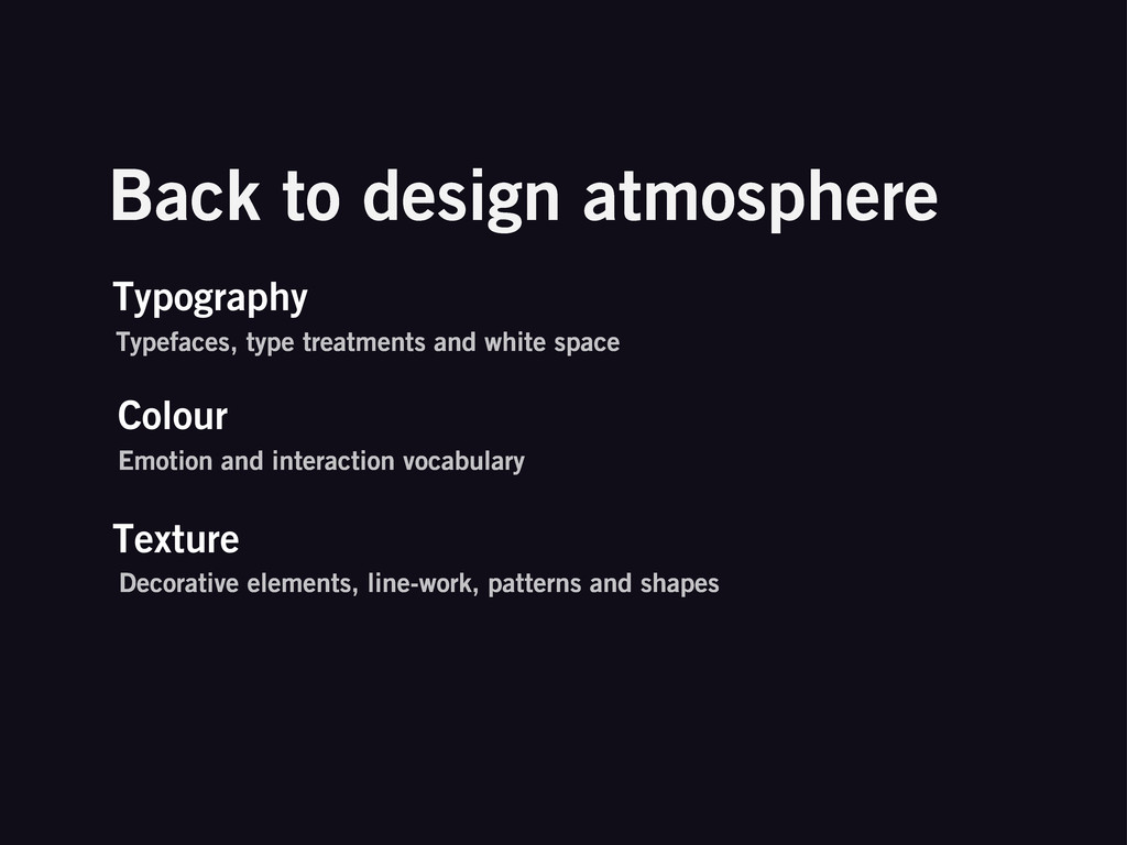 Back to design atmosphere Typography Typefaces,...