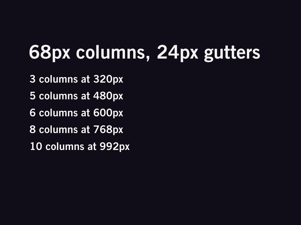 3 columns at 320px 5 columns at 480px 6 columns...
