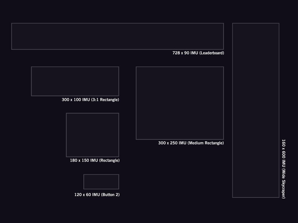 728 x 90 IMU (Leaderboard) 160 x 600 IMU (Wide ...