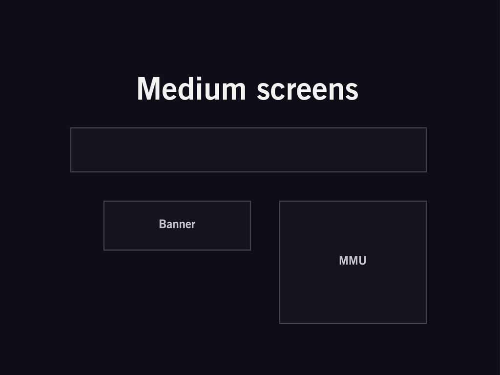 Medium screens Banner MMU