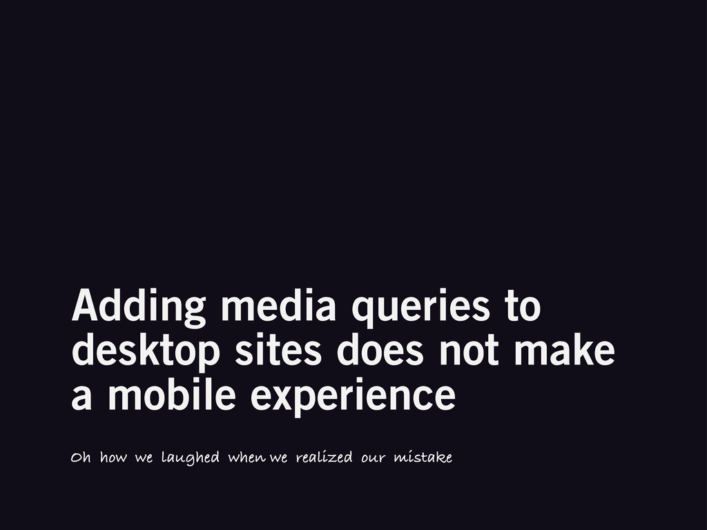 Adding media queries to desktop sites does not ...