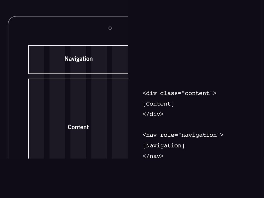 """Content Navigation <div class=""""content""""> [Conte..."""