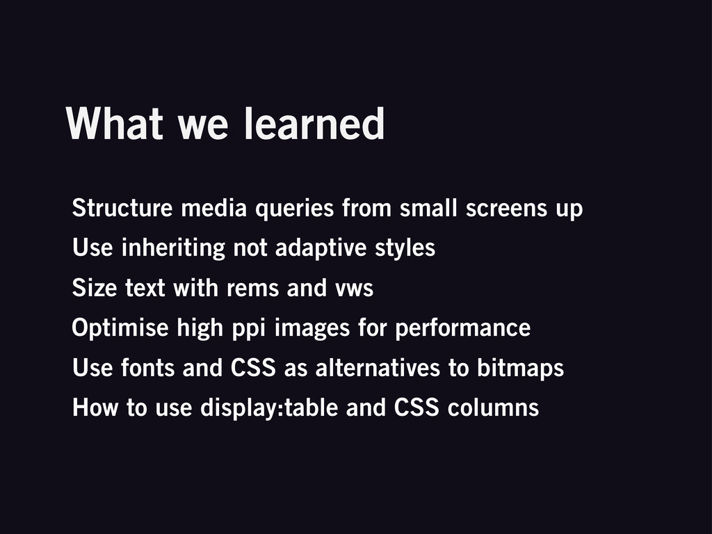 What we learned Structure media queries from sm...