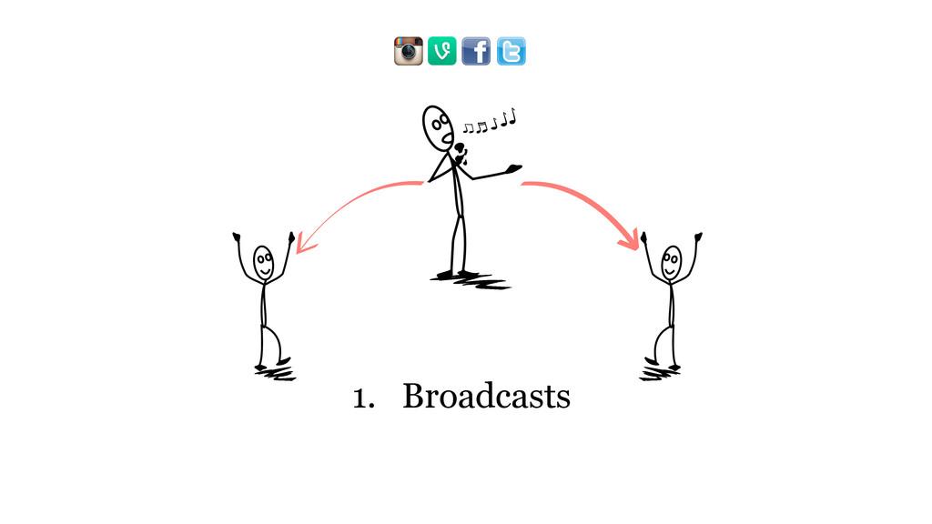 1. Broadcasts