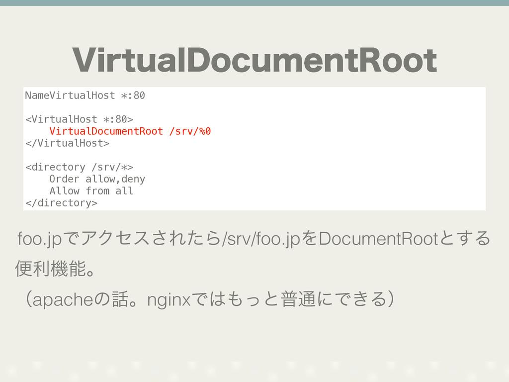 7JSUVBM%PDVNFOU3PPU NameVirtualHost *:80 <Virtu...
