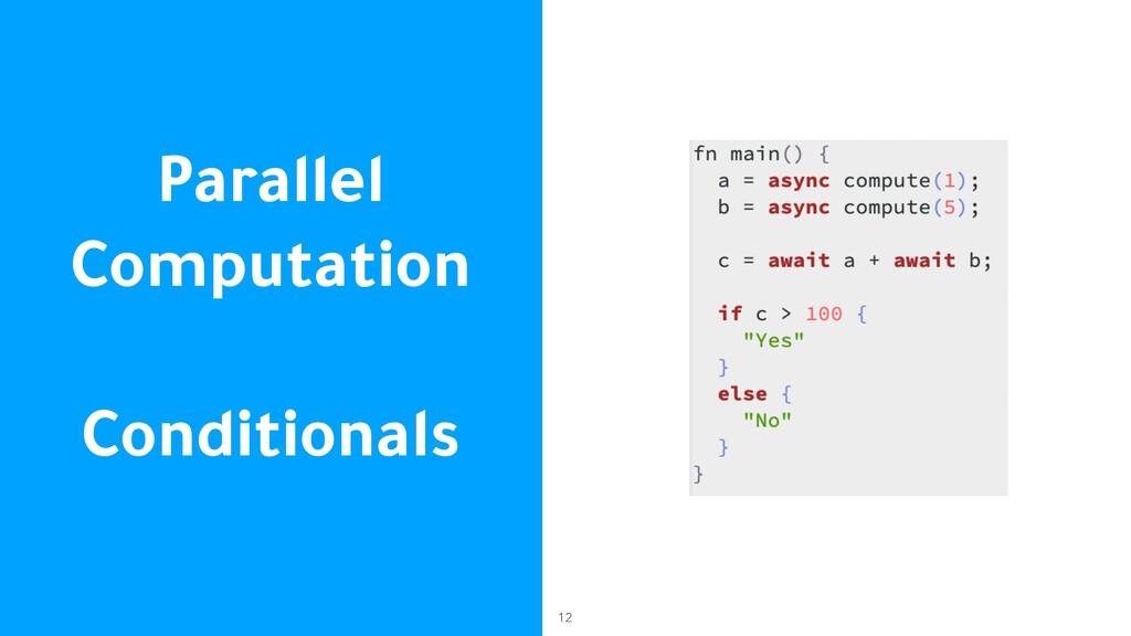 Parallel Computation Conditionals 12
