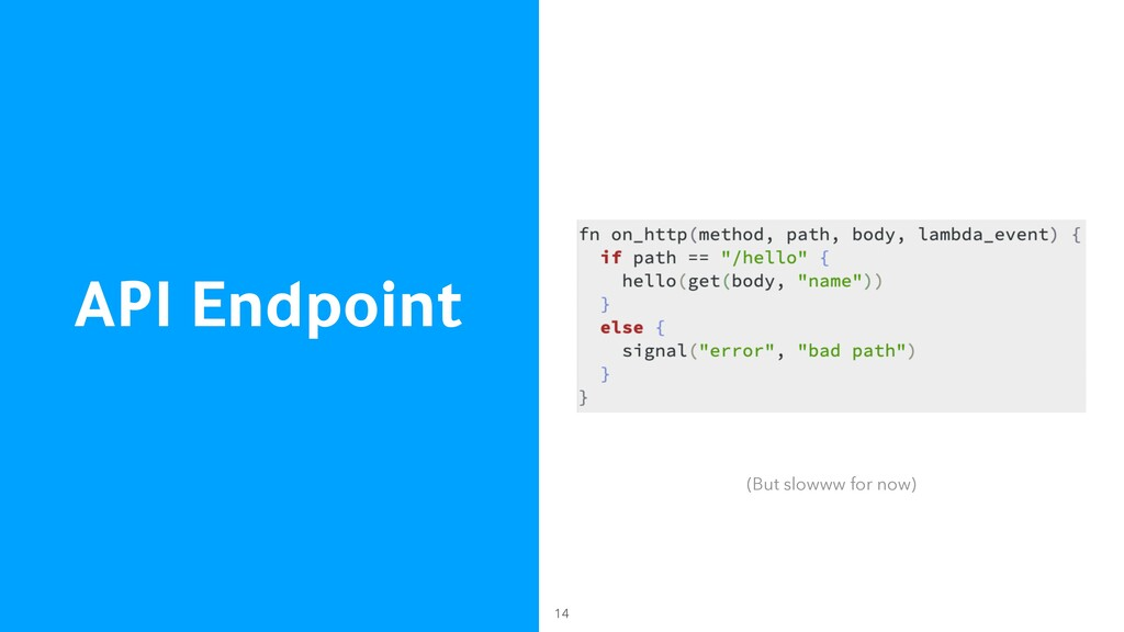 API Endpoint 14 (But slowww for now)