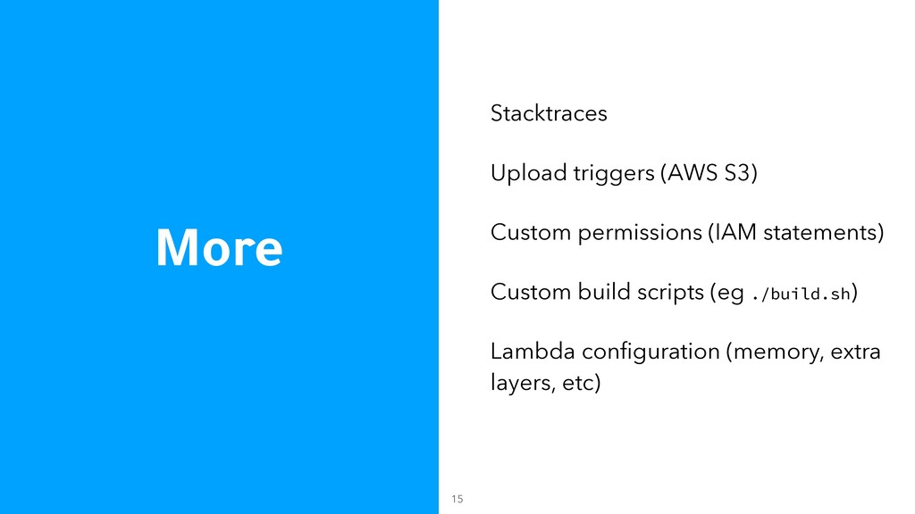 More Stacktraces Upload triggers (AWS S3) Custo...