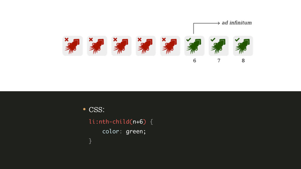 • CSS: