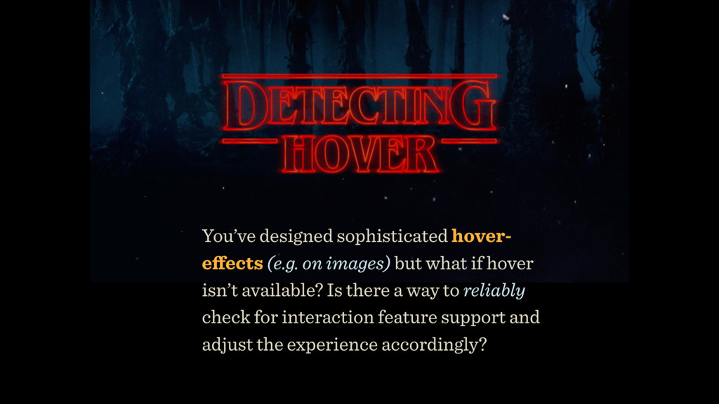 You've designed sophisticated hover- effects (e....