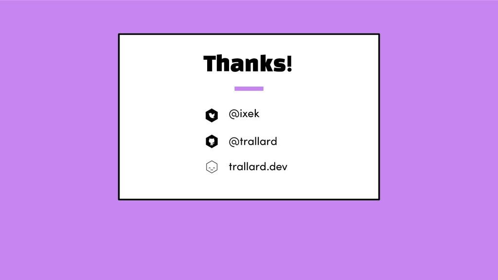 Thanks! @ixek @trallard trallard.dev