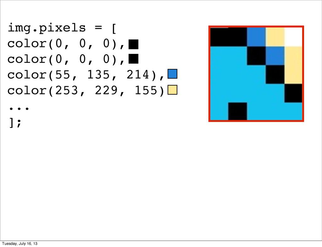 img.pixels = [ color(0, 0, 0), color(0, 0, 0), ...