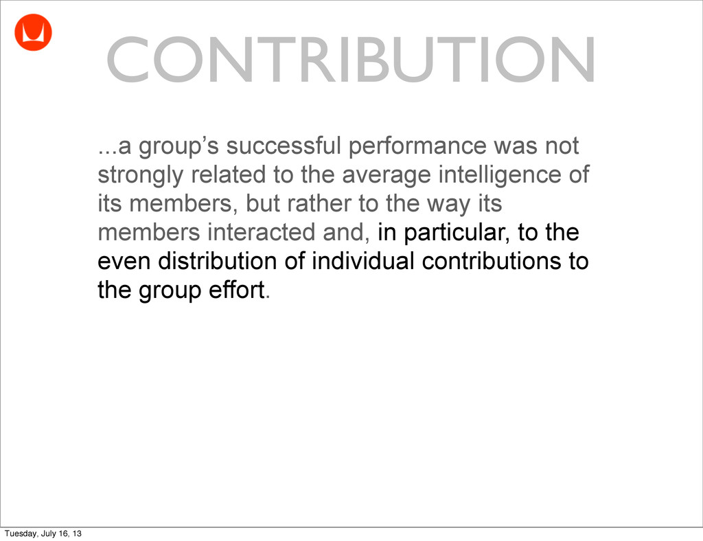 ...a group's successful performance was not str...
