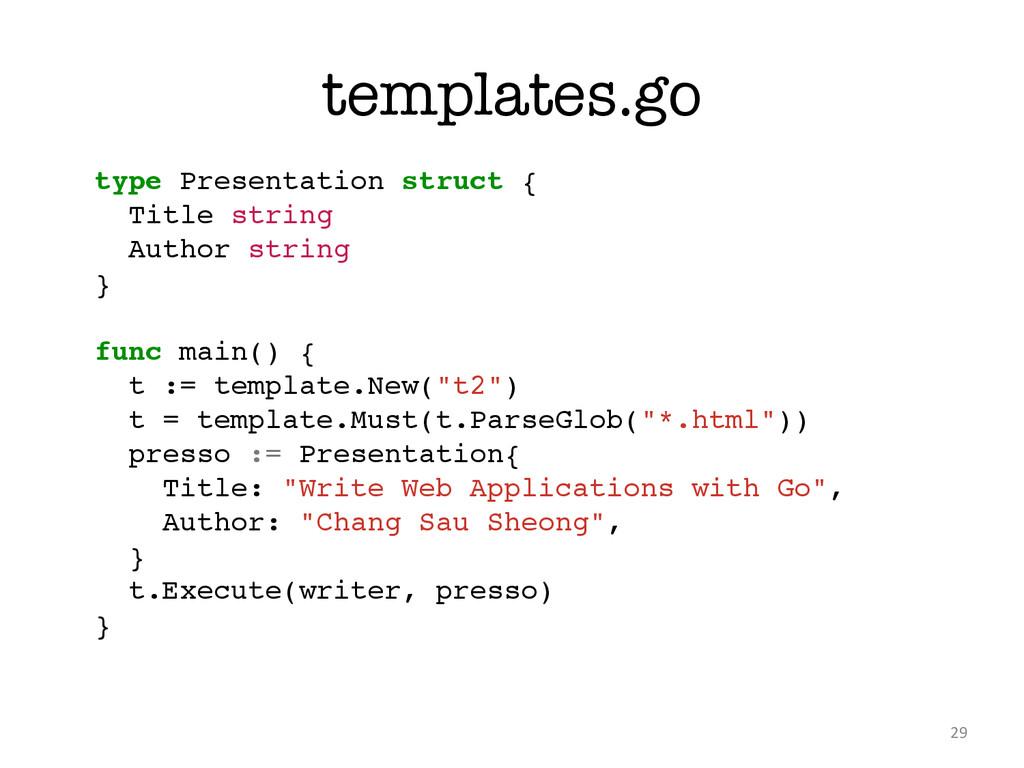 templates.go 29 type Presentation struct {! Tit...