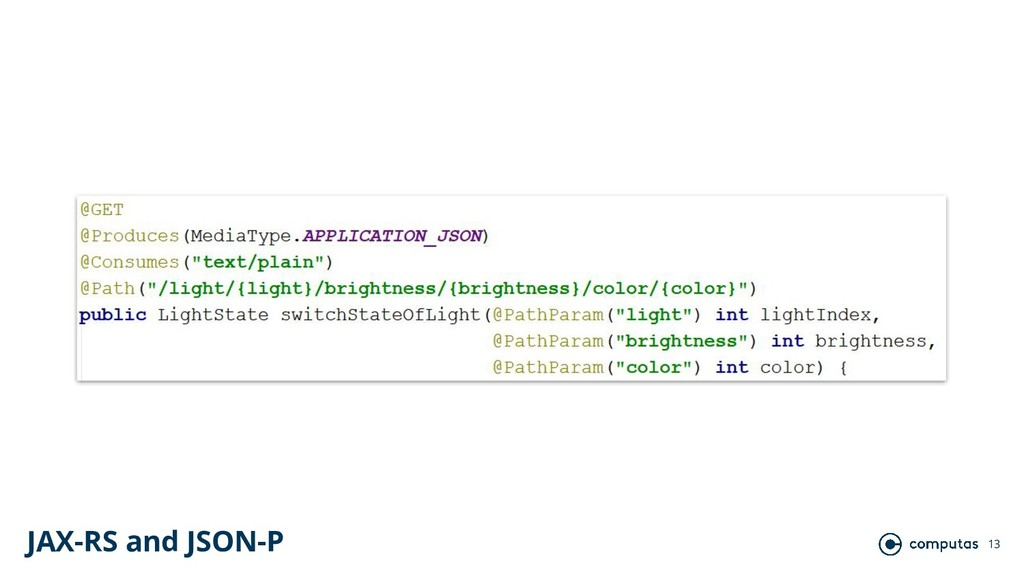 13 JAX-RS and JSON-P