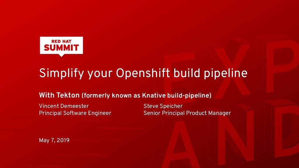 Simplify your Openshift build pipeline With Tek...