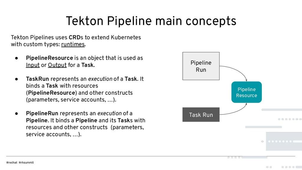 Tekton Pipeline main concepts Tekton Pipelines ...