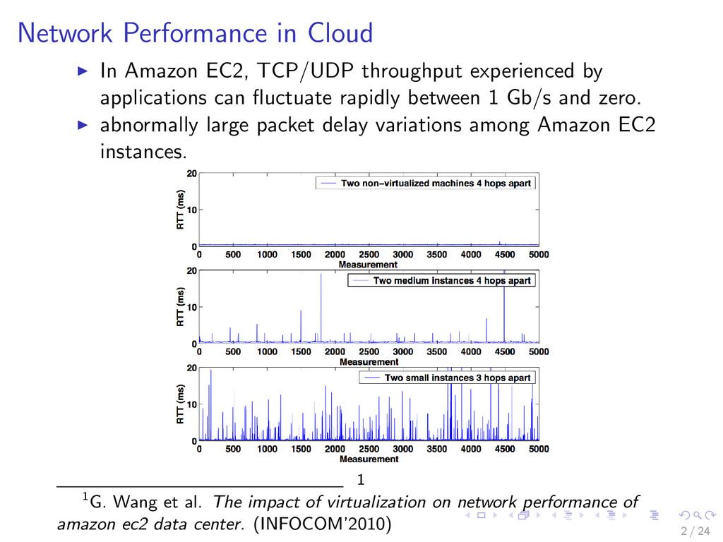 Network Performance in Cloud In Amazon EC2, TCP...