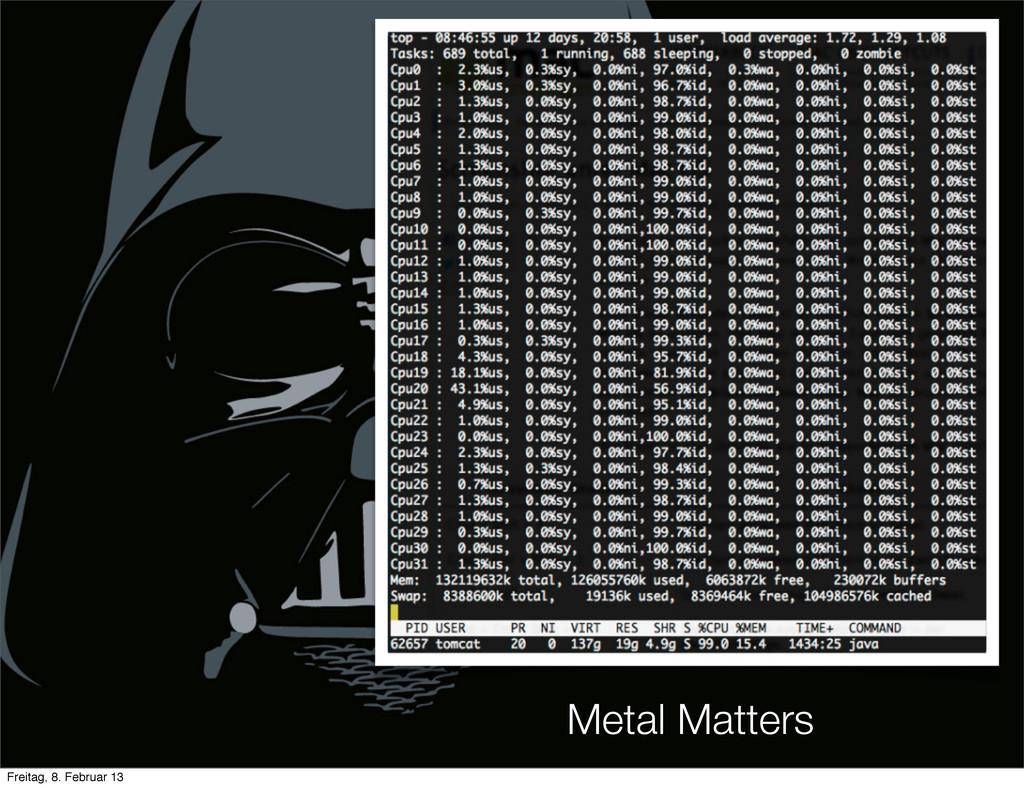 Metal Matters Freitag, 8. Februar 13