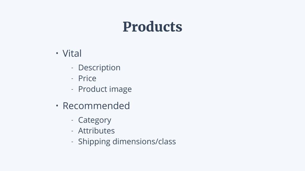• Vital - Description - Price - Product image •...