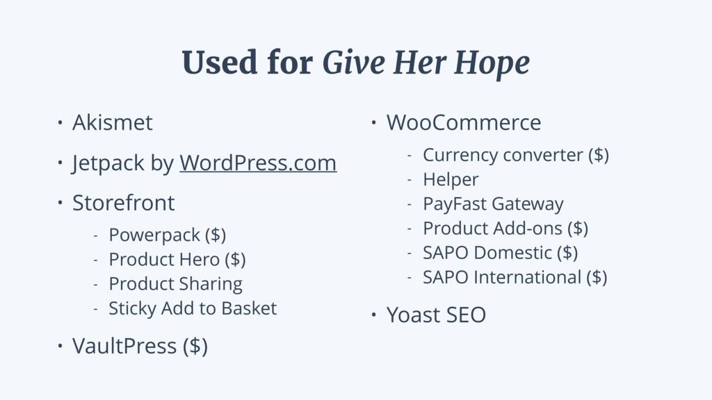 • Akismet • Jetpack by WordPress.com • Storefro...