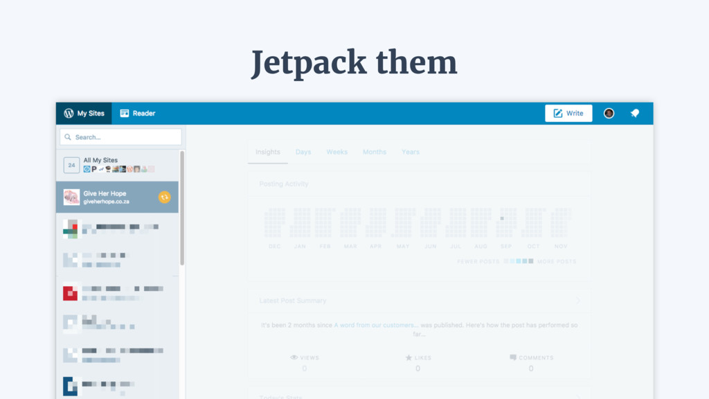 Jetpack them