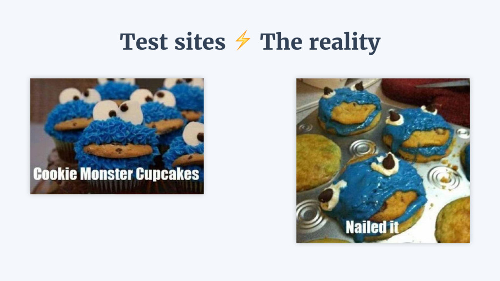Test sites ⚡ The reality