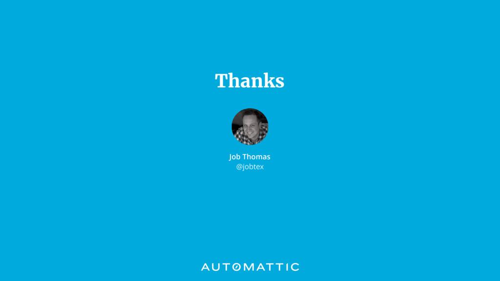 Thanks Job Thomas @jobtex