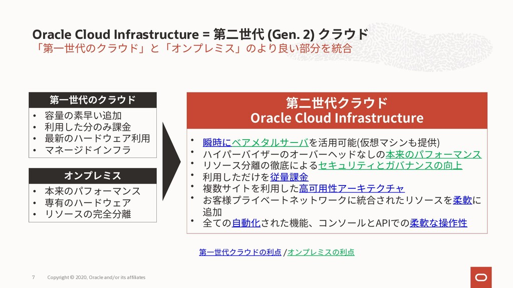 Oracle Cloud Infrastructure = (Gen. 2) Oracle C...