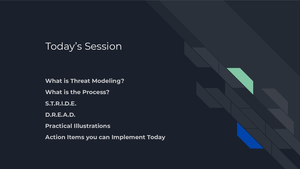 Today's Session What is Threat Modeling? What i...