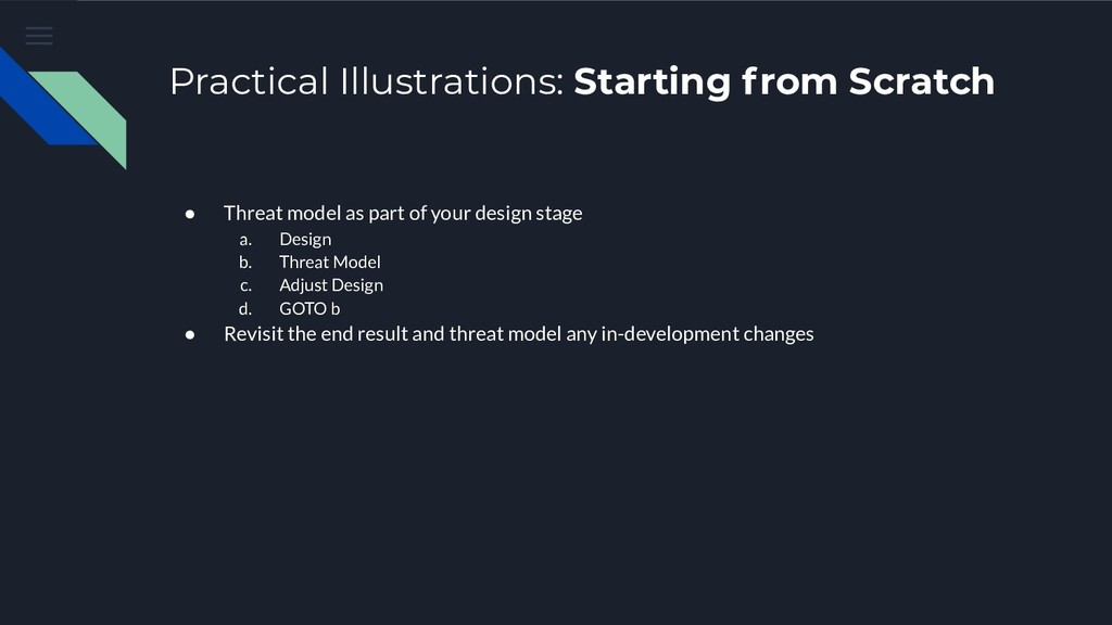 Practical Illustrations: Starting from Scratch ...