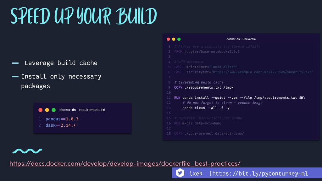 - Leverage build cache -Install only necessary ...