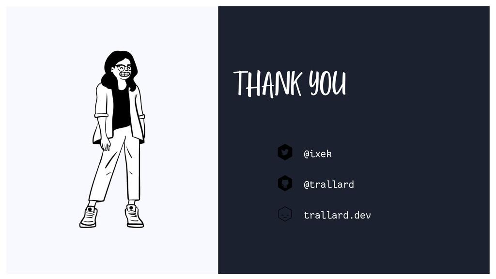 THANK YOU @ixek @trallard trallard.dev